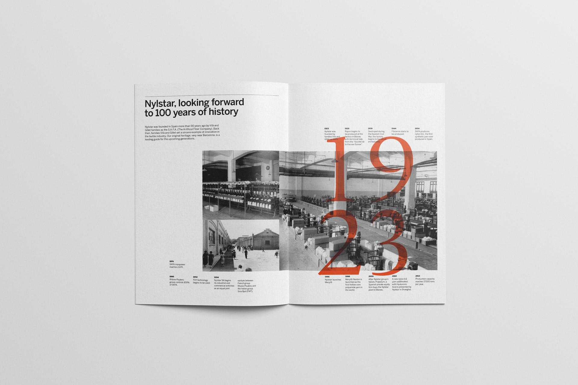 Dise o del informe anual para nylstar fase estudio de for Diseno grafico editorial