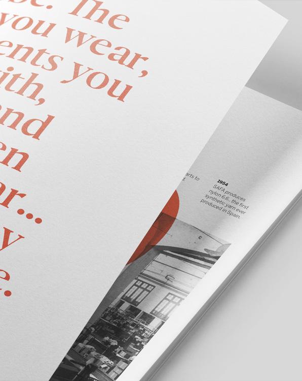 Fase, estudio de diseño gráfico. Diseño editorial para Nylstar, informe anual.