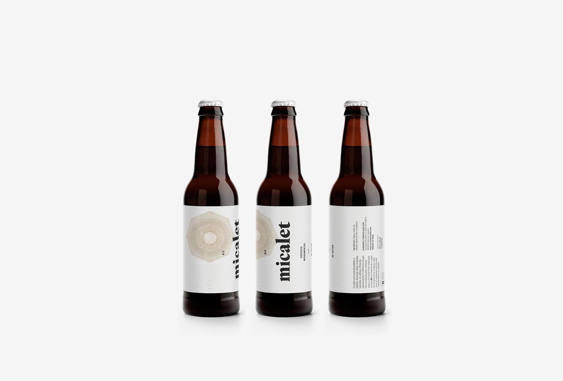 Fase, estudio de diseño gráfico. Identidad y packaging de cerveza Micalet.