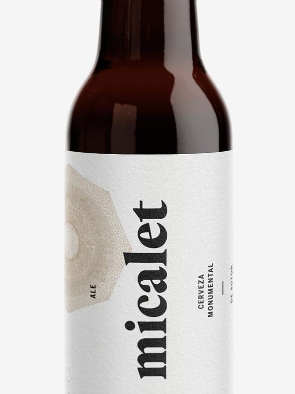 Fase, estudio de diseño gráfico. Identidad y etiqueta de cerveza Micalet.