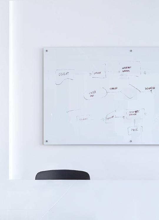 Fase, estudio de diseño gráfico. Identidad corporativa de Innovación Abierta, Universitat Politècnica de València. Pizarra