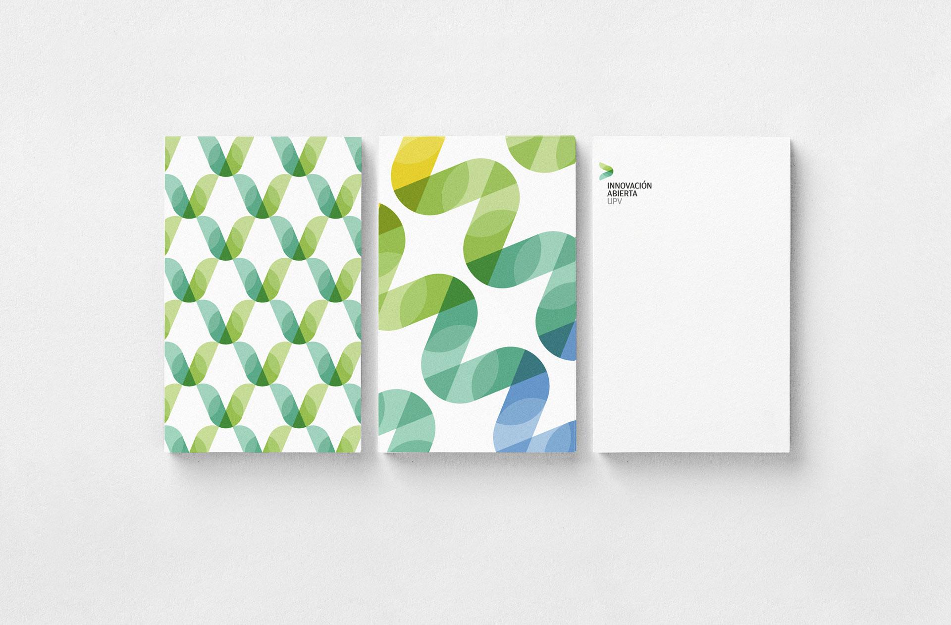 Fase, estudio de diseño gráfico. Identidad corporativa de Innovación Abierta, Universitat Politècnica de València. Saludas
