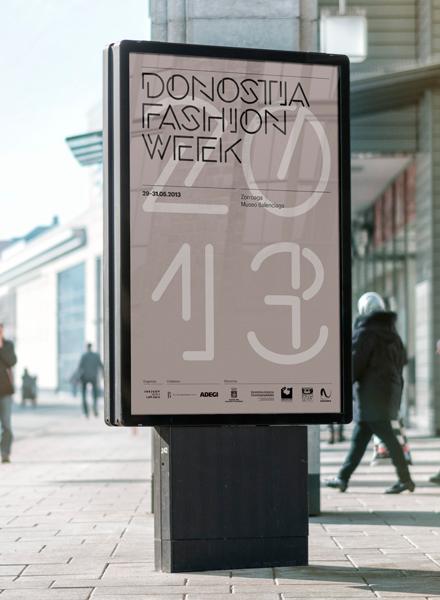 Fase, estudio de diseño gráfico. Identidad visual y tipografía para Donostia Fashion Week. Mupi