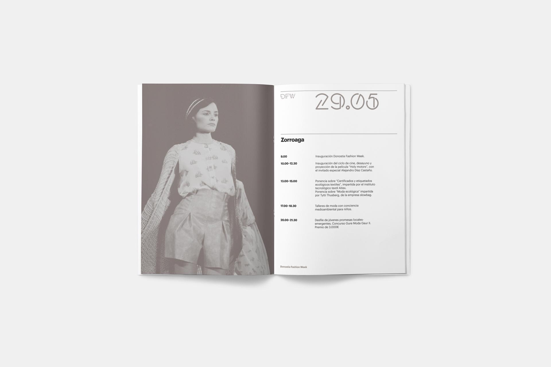 Fase, estudio de diseño gráfico. Identidad corporativa para Donostia Fasion Week.