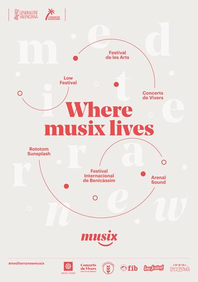 Fase, estudio de diseño gráfico. Identidad visual de Musix, proyecto de promoción cultural para la Generalitat Valenciana. Cartel