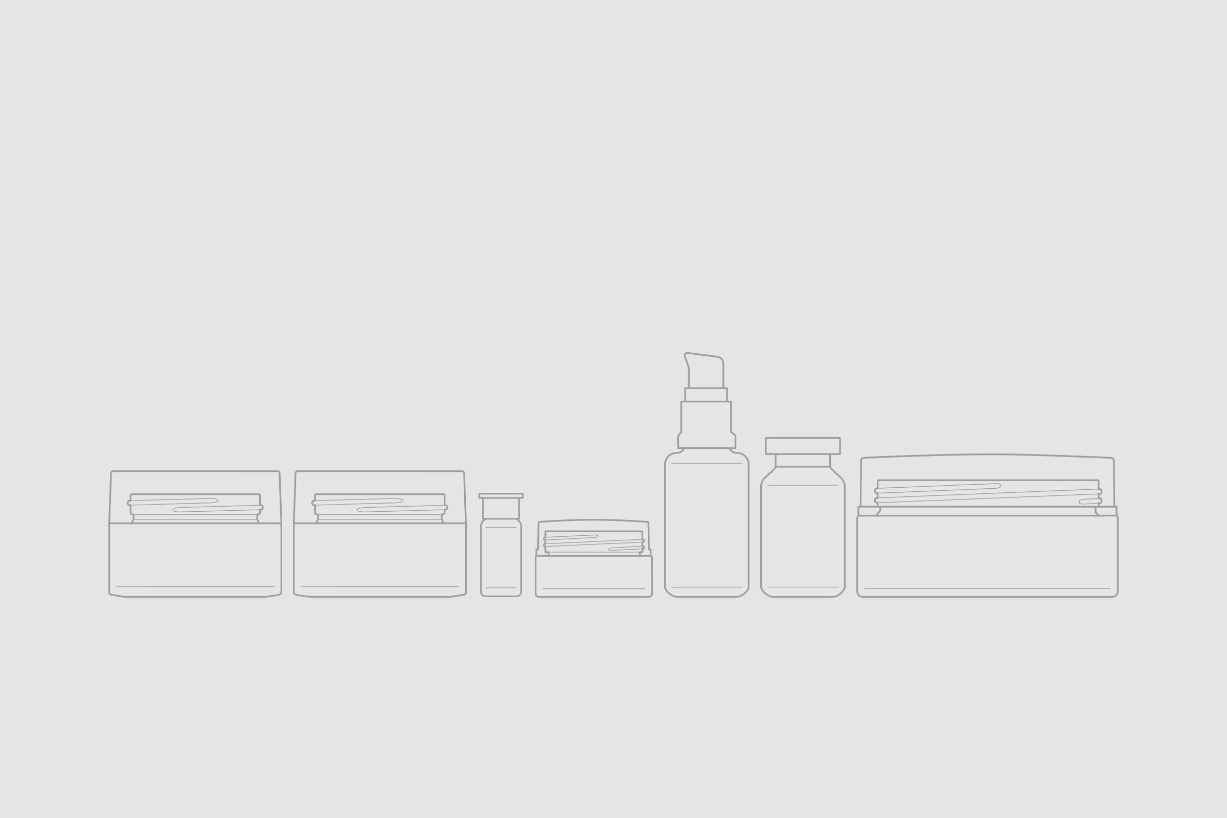 Fase, estudio de diseño gráfico. Identidad corporativa y diseño de packaging para Endor Technologies. Iconos envases.