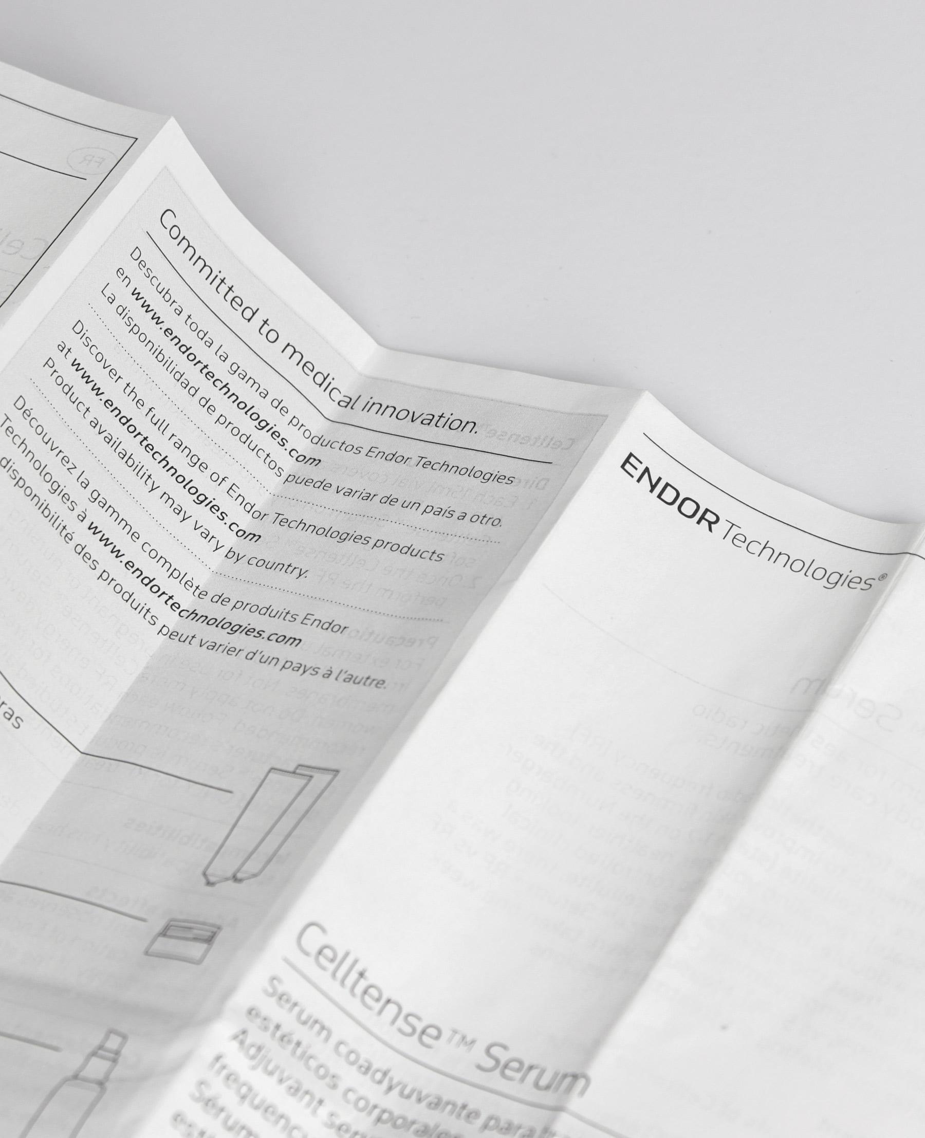 Fase, estudio de diseño gráfico. Identidad corporativa y diseño de packaging para Endor Technologies. Prospecto.