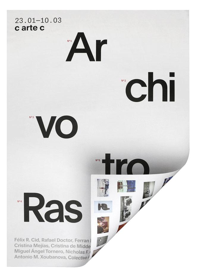 Fase, estudio de diseño gráfico. Identidad exposición de arte Archivo Rastro. Cartel.
