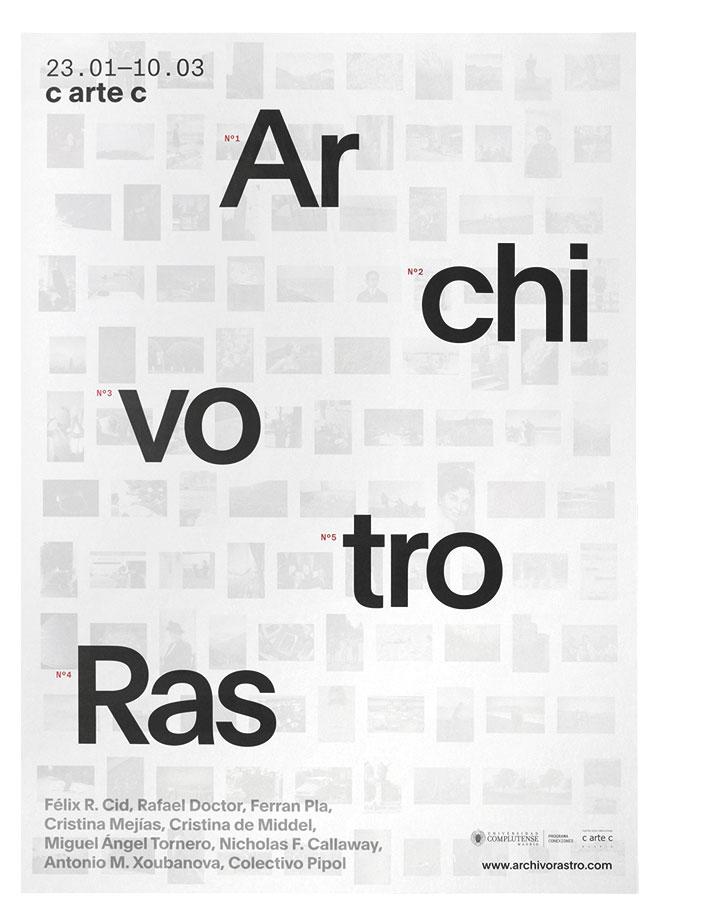 Fase, estudio de diseño gráfico. Identidad exposición de arte Archivo Rastro.