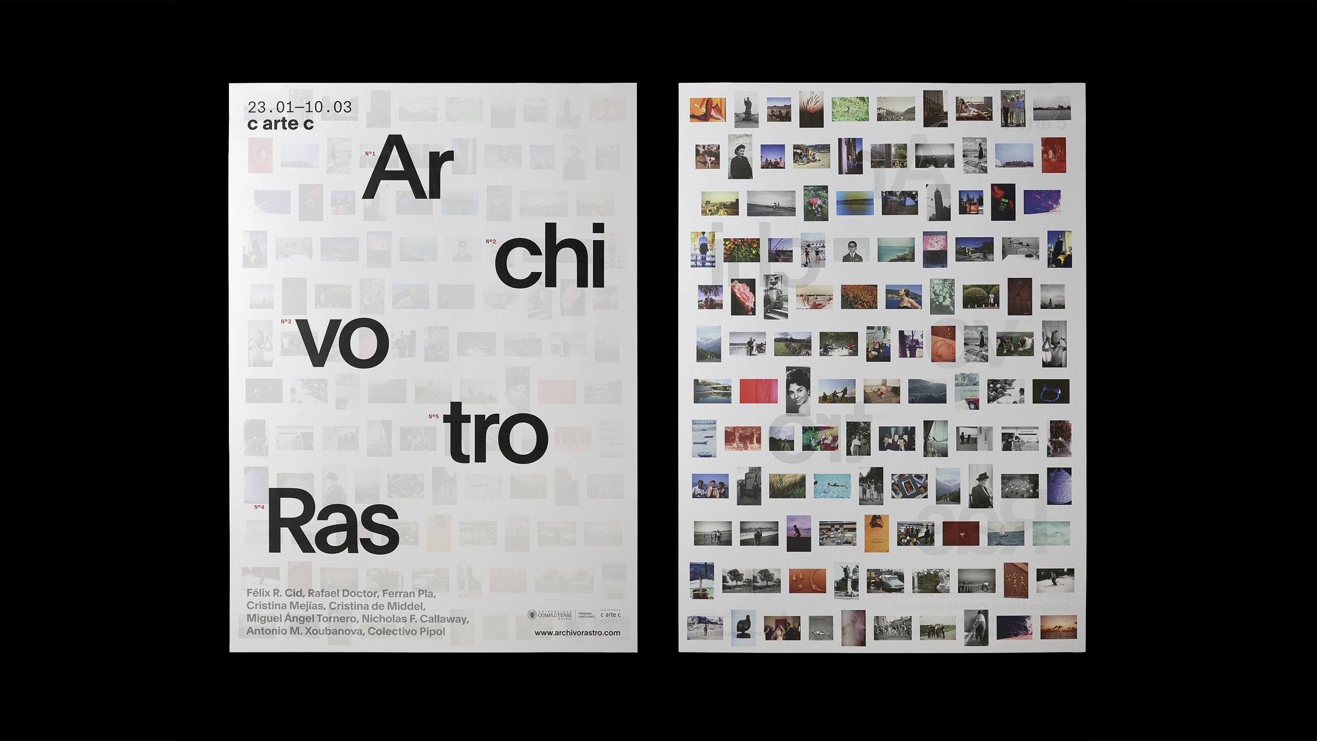 Fase, estudio de diseño gráfico. Identidad exposición de arte Archivo Rastro. Cartel - poster..