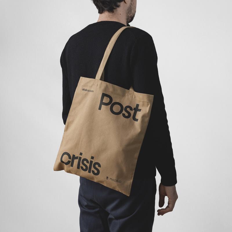 Fase, estudio de diseño gráfico. Identidad exposición de arte Postcrisis.
