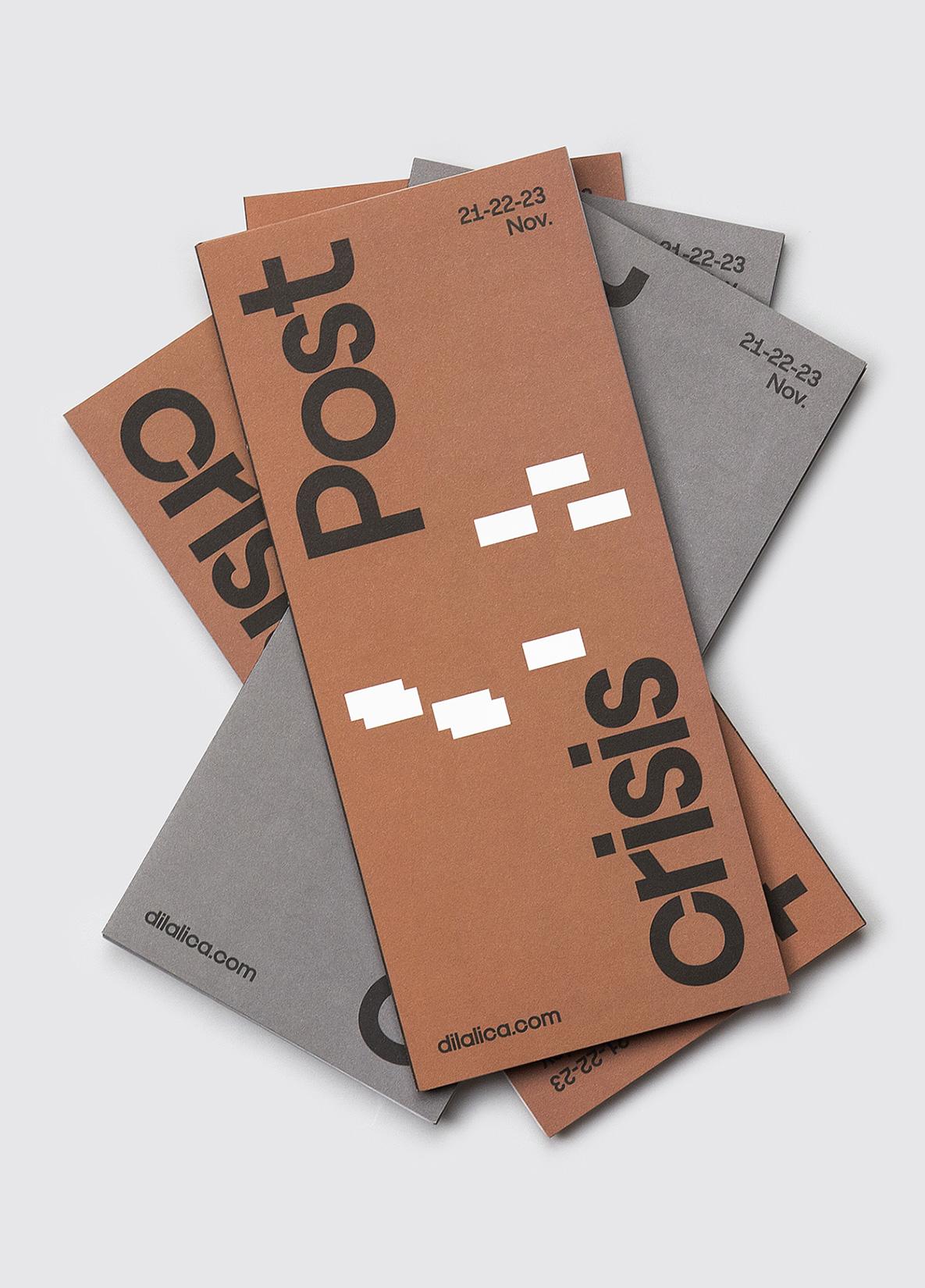 Fase, estudio de diseño gráfico. Identidad exposición de arte Postcrisis. Programas.