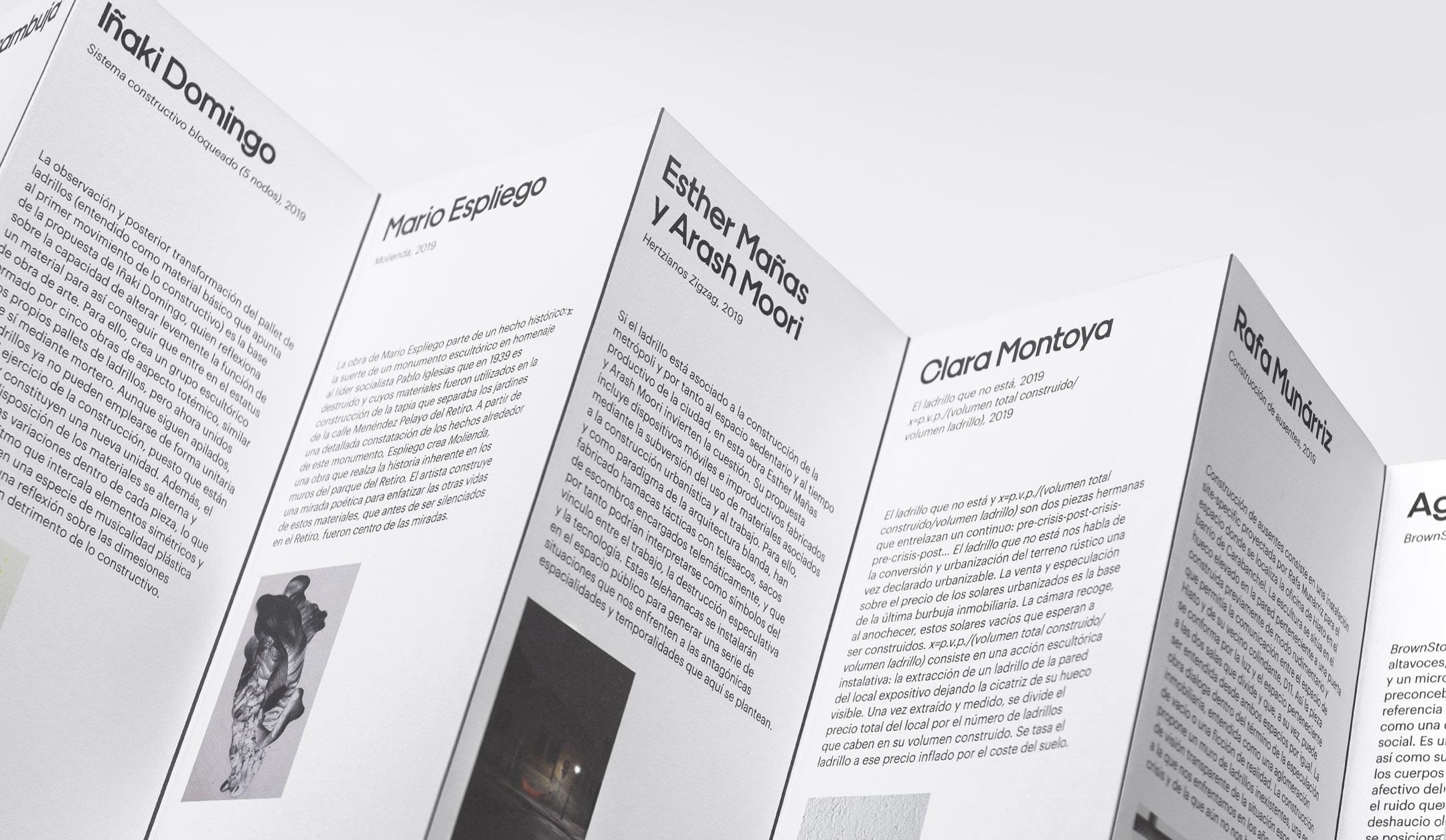 Fase, estudio de diseño gráfico. Identidad exposición de arte Postcrisis. Programa, detalle.